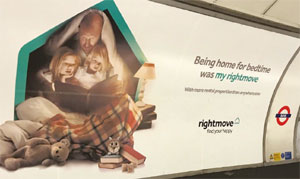 Rightmove underground advertising image