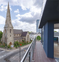 London rooftop home view image