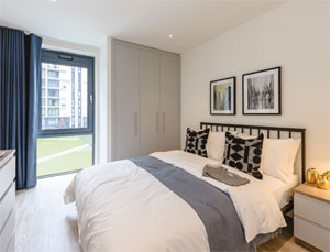 Wembley Park build to rent development interior image