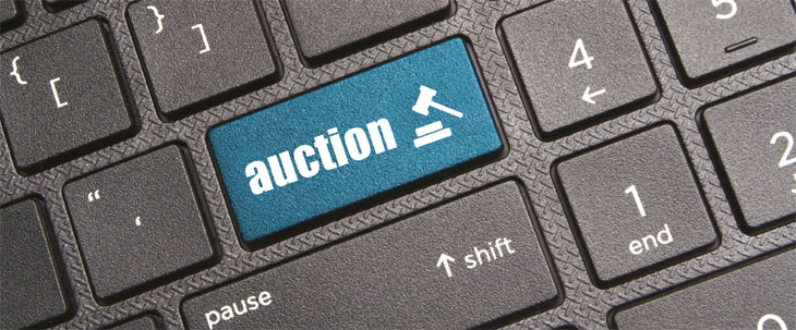Auction button on keyboard image