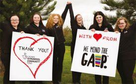 Moneypenny We Mind The Gap fundraising image
