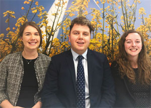 Amy Nuttall (Residential), Michael Brown (Industrial) and Leah Watton (Planner) - JLL graduates - image