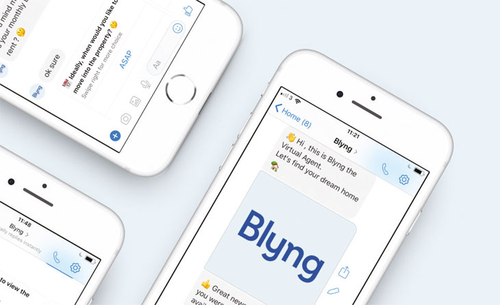 Blyng software on mobile device image