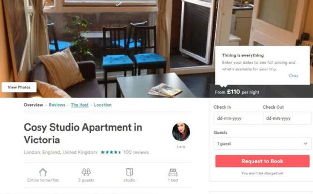 Link to news of Airbnb sublet