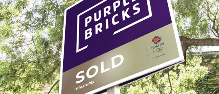 Proptech purplebricks sign gold image