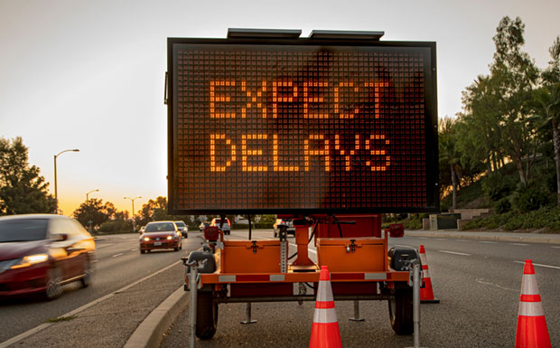 Expect delays image