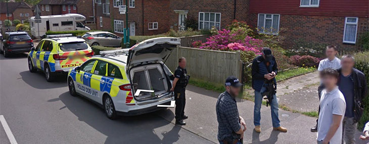 There goes the neighbourhood! Rightmove link exposes arresting scene