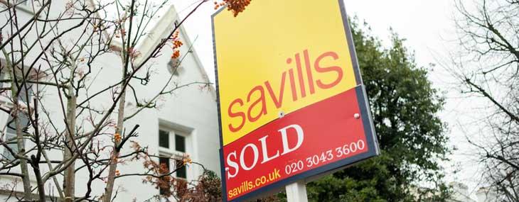 savills sold board