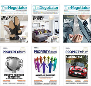 The Negotiator Magazine and Propertydrum covers image