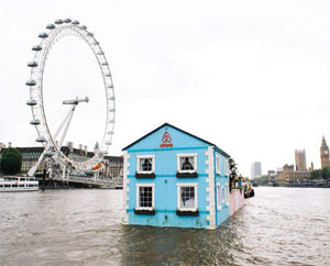 Airbnb floating building image