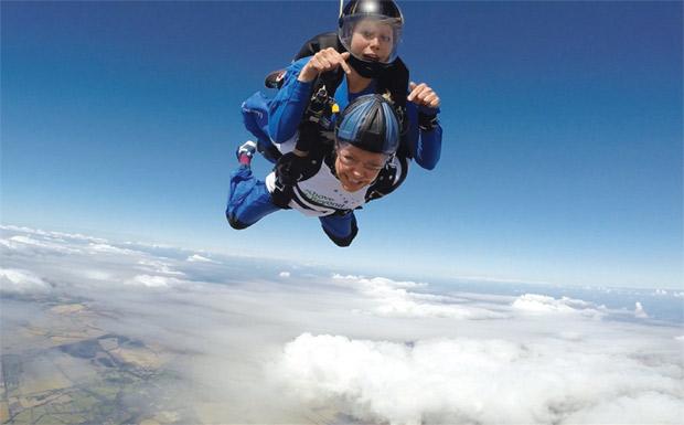 Debbie Fortune sky-diving image