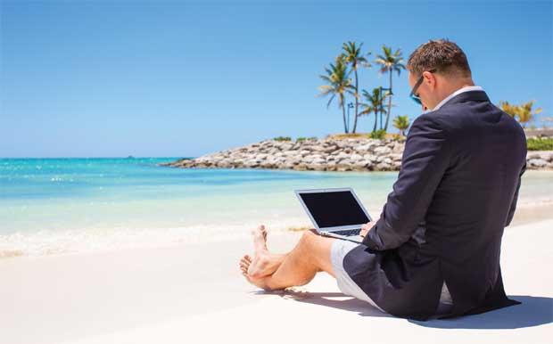 businessman on beach image