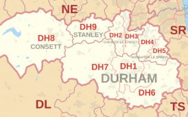Durham postcodes image