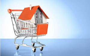 EasyProperty house in shopping trolley image