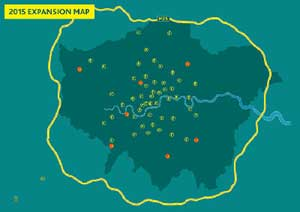 Foxtons 2015 expansion map image