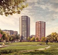 Hackney housing development