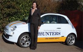 Hunters car Caroline Murgatroyd