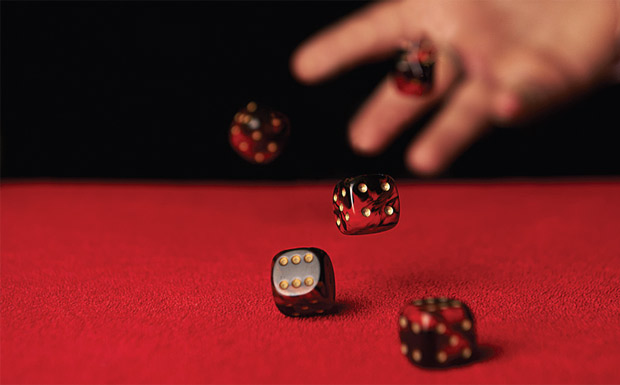 Rolling the dice image