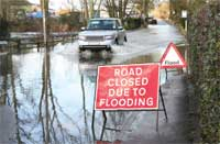 flooded road image