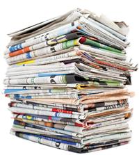 stack of newspaper image