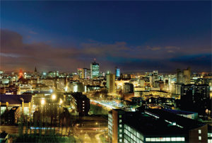 Manchester city night view
