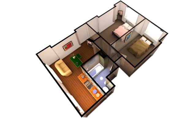 Metropix 3D floor plan image