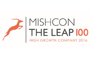 The Leap 100 logo
