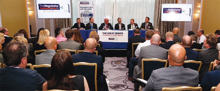 conference panel debating online agencies image