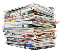 Stack of newspapers image