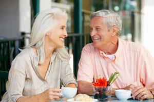 Senior couple image