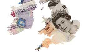 money map of Britain image