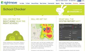 Rightmove School Checker website image
