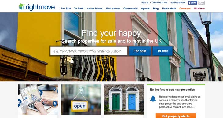 Rightmove screen shot image