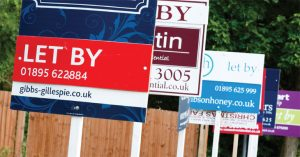 Sales and lettings boards image