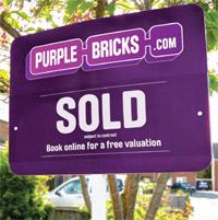 Purple Bricks signboard image
