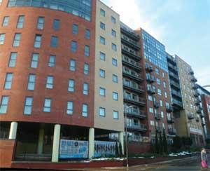 massive student accommodation block image