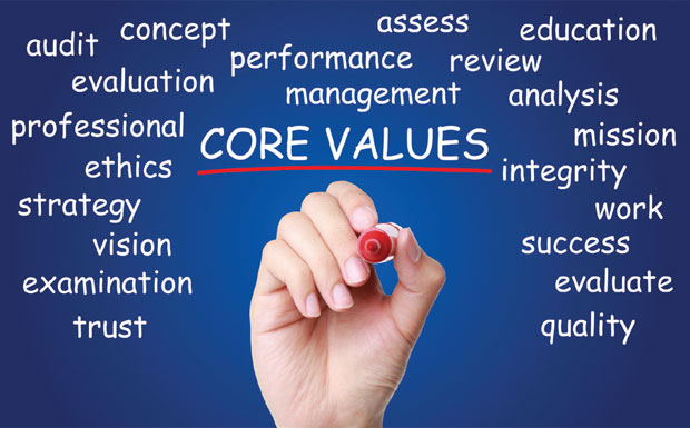 Training in core values image